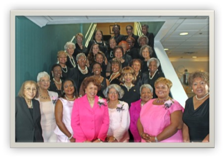 Front (left to Right):  Helen Carter, Sandra Kennedy, Almeaer Smith-Alston, Gloria Wyche, Joyce Carter, Frances Atkinson, Sherrethia Lowe, Joice Conyers; 2nd row (left to right):  Evelyn Carter, Cynthia Brown Gwendolyn Dorman, Sylvia Smith Dyer (deceased), Jerlys Barham  3rd row (left to right):  Elaine Wright, Alice Creighton, Sandra Edmonds, Sally Jones   4th (left to right):  LaVerne Spurlock, Irlene Kemp), Shelley White, Bernetta Williams, Mary Gay  5th row (Left to right):  Hattie Webb, Sheryl Carter-Thompson, Sheron Carter-Gunter, Thelma Pettis, Bridgette Watkins;  Last row (left to right): Shirley Moore, Willette Sharpe, Ardella Payne Not shown:  Wylena Carter, Gerri Carter-Thurston, Rose Ferguson, Lillian Greene, Cheryl Hunt, Shirley Logan, and Delores Quash.